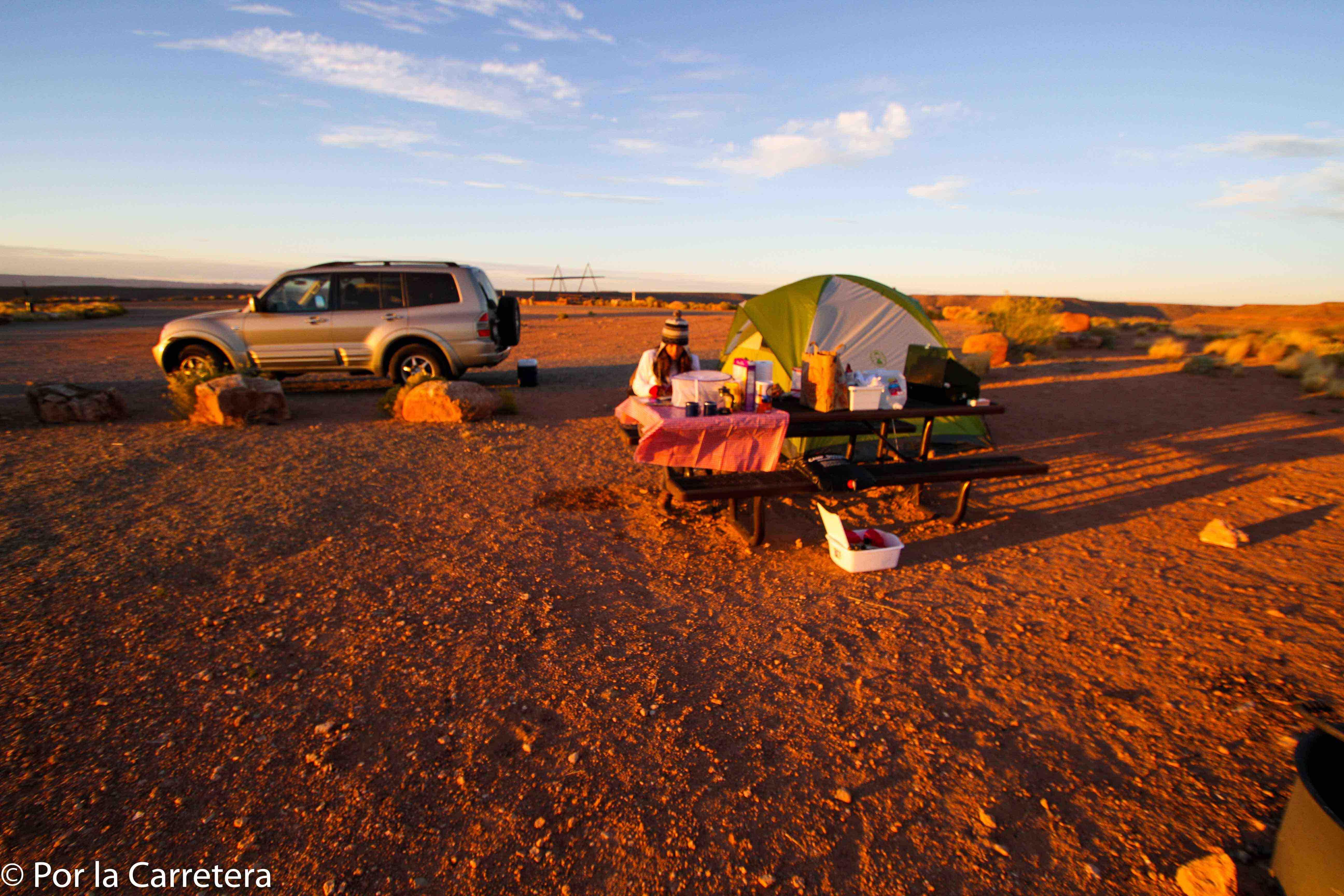 Nem todos os campings têm a mesma estrutura...