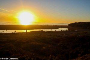 San Simeon sunset california