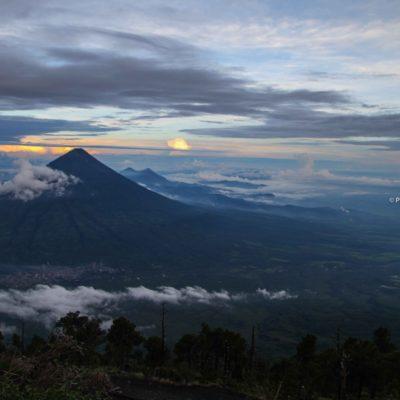 O famoso Hiking no Vulcão Acatenango